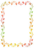 Floral gradient frame with butterfly. Raster clip art outline drawing stock image