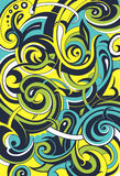 Floral graffiti abstraction. Graffiti style elegant background with floral swirls Royalty Free Stock Images