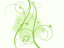 Floral grangy abstract vector Royalty Free Stock Photography