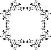 Floral grape design frame Royalty Free Stock Photos