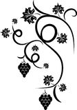 Floral grape - design tattoo vector illustration