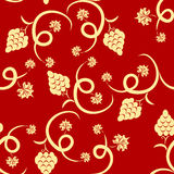 Floral grape seamless pattern Stock Image