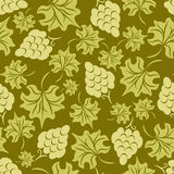 Floral Grape Seamless Pattern Royalty Free Stock Images