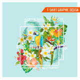 Floral Graphic Design - Tropical Flowers Stock Photos