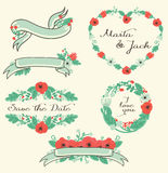 Floral graphic set Royalty Free Stock Photos