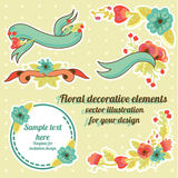 Floral graphic set Royalty Free Stock Images