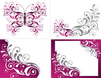 Floral graphics design elements Stock Photography