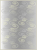 Floral gray gama 2. Floral motive in grey Royalty Free Stock Photo