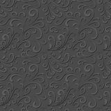 Floral gray pattern Stock Images