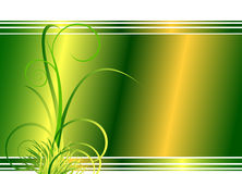 Floral Green Background With Grass Stock Image
