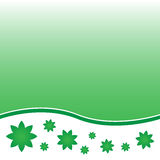Floral green background Stock Photography