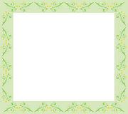 Floral Green Border Royalty Free Stock Images