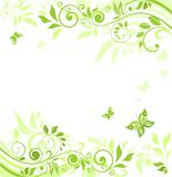 Floral green border Royalty Free Stock Image