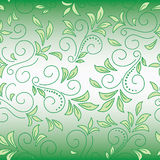 Floral green decorative background with gradient Stock Image