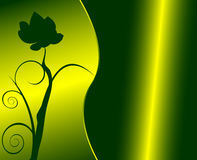 Floral green design. Vector illustration royalty free illustration
