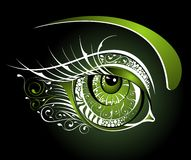 Floral green eye Stock Image