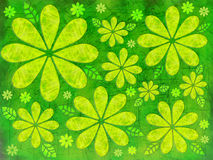Floral Green Illustration royalty free illustration