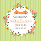 Floral green invitation Royalty Free Stock Photo
