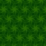 Floral Green Line Pattern Royalty Free Stock Image