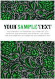 Floral green pattern. In Russian style Royalty Free Stock Images