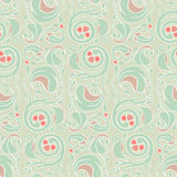 Floral green pattern Stock Photography