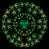 Floral green pattern Royalty Free Stock Photo