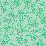 Floral green seamless pattern Royalty Free Stock Photos
