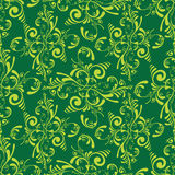 Floral green tile Stock Photo