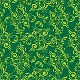 Floral green tile stock illustration