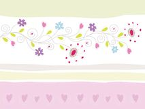 Floral Greeting Card royalty free illustration