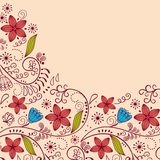 Floral greeting card Royalty Free Stock Images