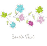 Floral greeting card Royalty Free Stock Photos