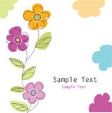 Floral greeting card Royalty Free Stock Photo
