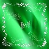Floral greeting card. Floral greeting card on green background Stock Image