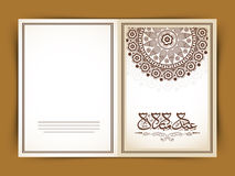 Floral greeting card with Arabic text for Eid celebration. Royalty Free Stock Image