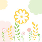 Floral Greeting Card Background Royalty Free Stock Images