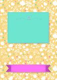 Floral greeting card with banners for custom text royalty free stock photos