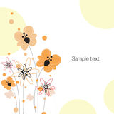 Floral greeting card Stock Photos