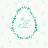 Floral greeting card for Easter. Cute Easter greeting card with floral elements Stock Photos
