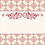 Floral greeting card. Royalty Free Stock Photos