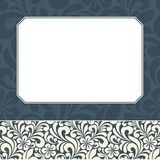 Floral greeting card. Stock Images