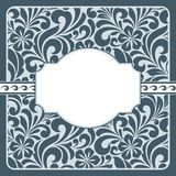 Floral greeting card. Royalty Free Stock Image