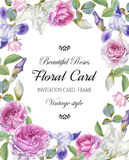 Floral greeting card Stock Image