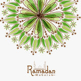 Floral greeting card for holy month, Ramadan Kareem celebration. Stock Image