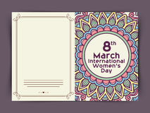 Floral greeting card for International Women's Day. Stock Photography