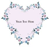 Floral greeting card and invitation stock illustration