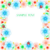 Floral greeting card with ladybirds Royalty Free Stock Image