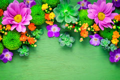 Floral greeting card mockup Stock Image