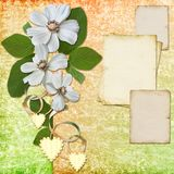 Floral greeting card with place for your text Royalty Free Stock Images