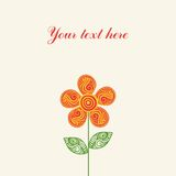 Floral greeting card with place for your text. Royalty Free Stock Photos
